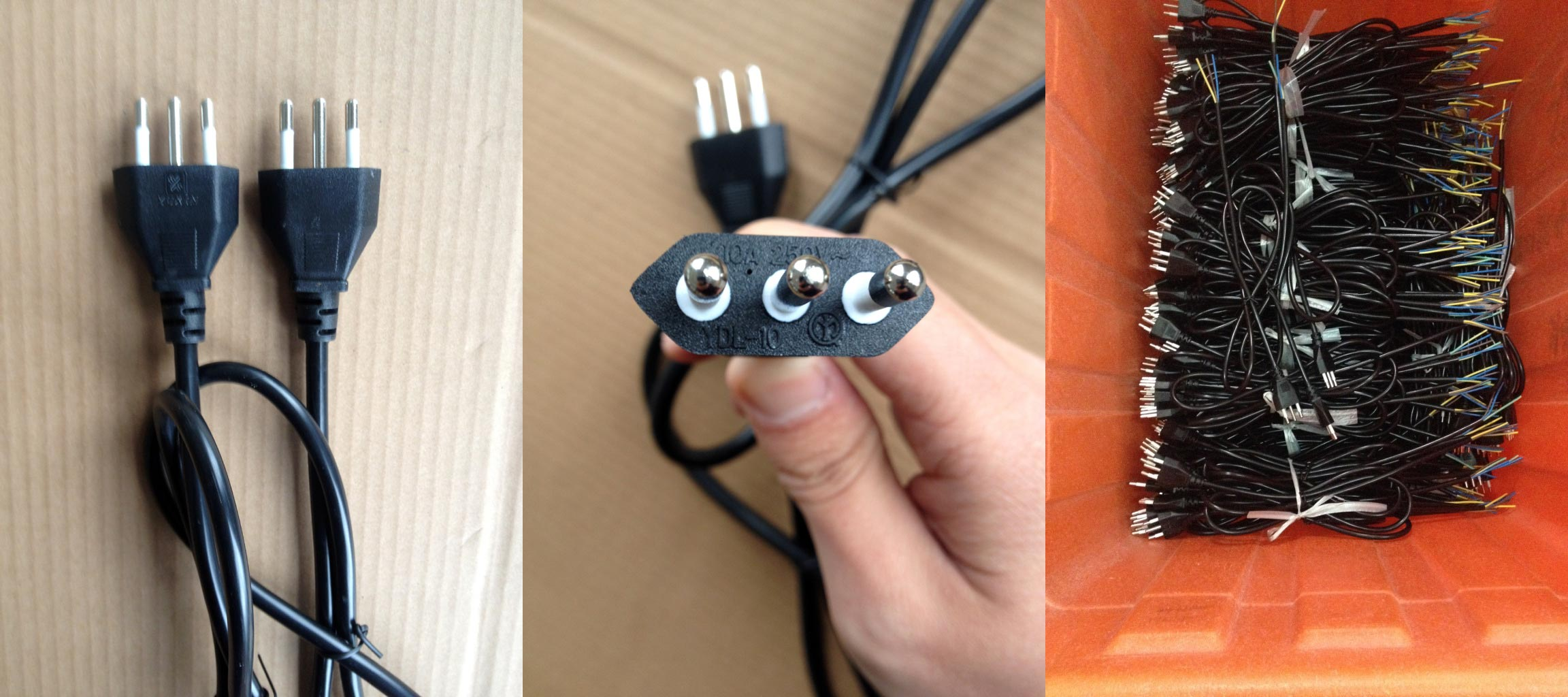 Italy Power Cord 10 Amp 3 Wire Cei 23 50 Standard Type L Plug Ac Wiring South Africa Supply Grounded
