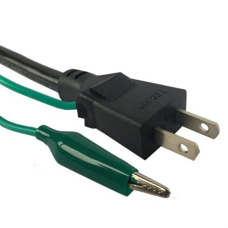 Japan Power Cord 3 Wire Plug With Alligator Clip