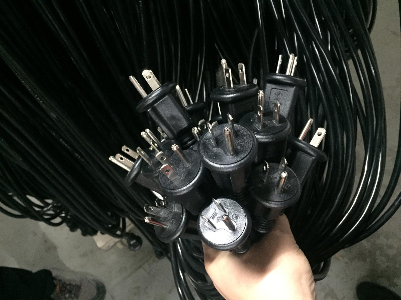Japan Power Cord Outdoor Waterproof Plug Grounding