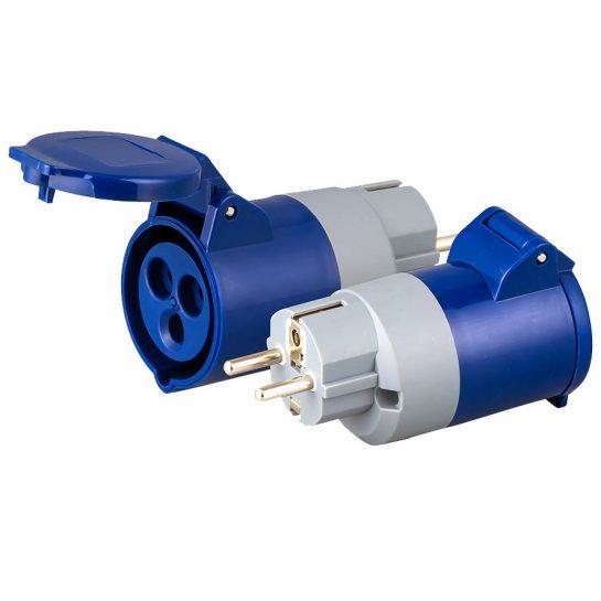 European plug IEC 60309 receptacle adapter
