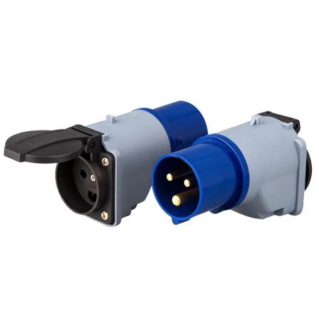 IEC 60309 Hookup Plug Adapter to Denmark Receptacle