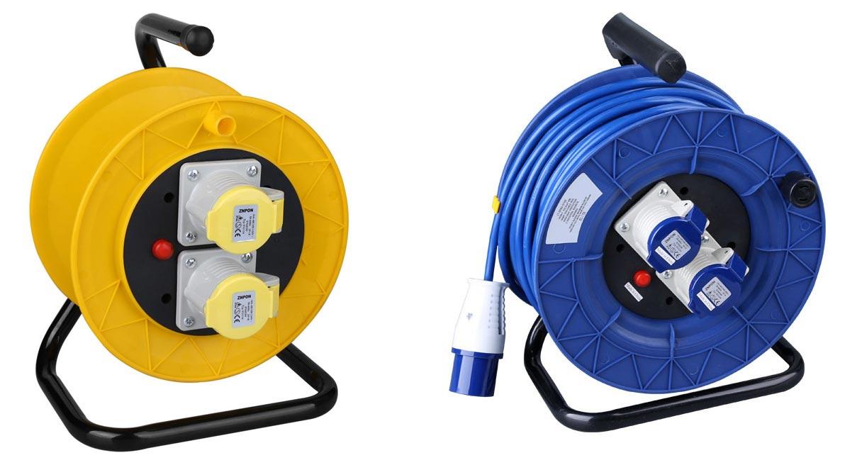 IEC 60309 Industrial Plug Extension Cord Reel 2-Socket
