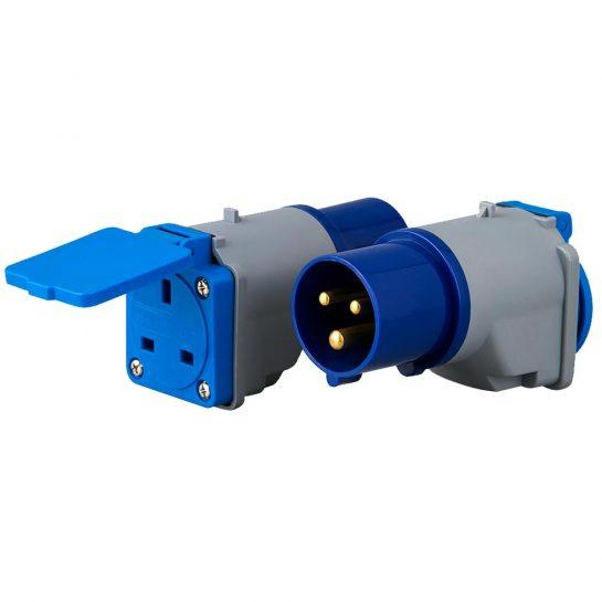 IEC 60309 Plug Hookup Adapter to UK Socket
