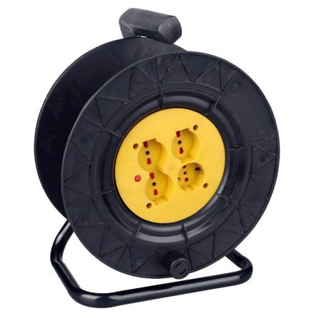 Italy Extension Cable Reel 4 Outlet