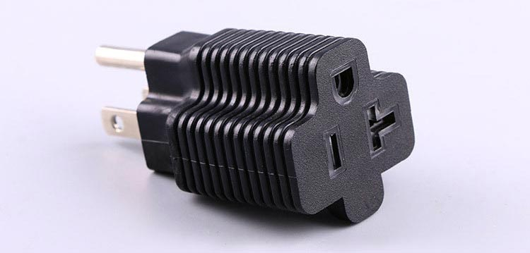 NEMA 5-20R 20 AMP Female to 15-Amp USA Male Plug Adapter