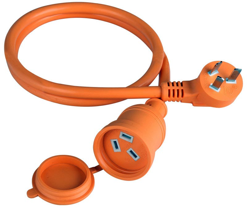 Outdoor Extension Cord Single Outlet 3-Wire Orange