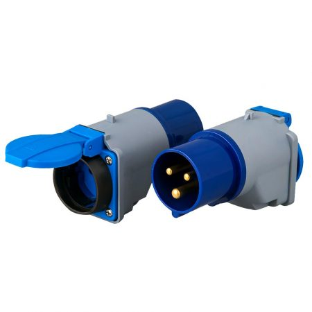 Socket adapter iec 60309 plug schuko receptacle