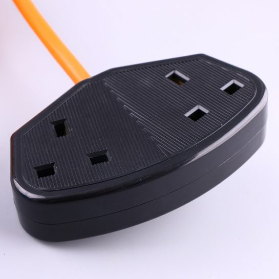 UK extension power cord 2 outlets