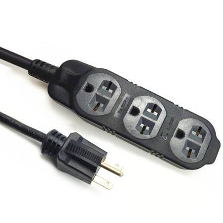 Extension Cord Triple Outlet NEMA 6-15P