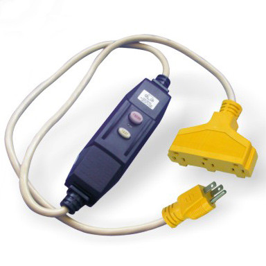 In-line GFCI Extension Cord 3-Outlets
