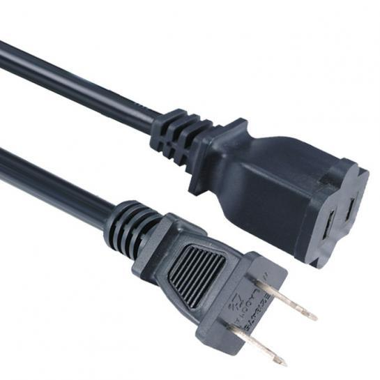 US Power Extension Cable AC 2-Prong